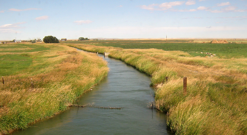 an irrigation ditch, Montana
